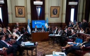La Comision de Acuerdos a cargo del senador Rodolfo Urtubey, analiza en audiencia publica los pliegos de embajadores enviados por el Presidente Mauricio Macri, en el salon Illia del Congreso de la Nacion, en Buenos Aires, Argentina el 16 de febrero de 2016. (CELESTE SALGUERO/ PRENSA SENADO)