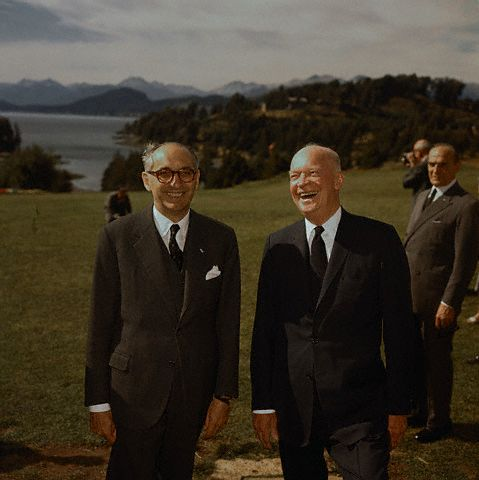 Dwight Eisenhower with ArgentineanPresident